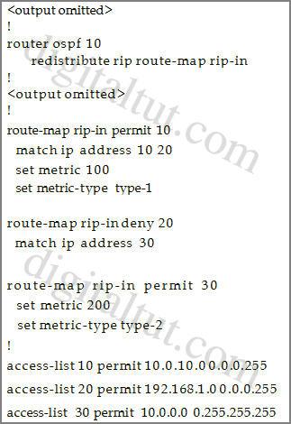 route_map_redistribute